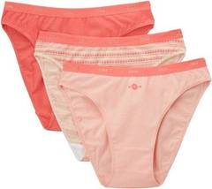 3 Slips Pocket Coton DIM, rose, taille 36/38
