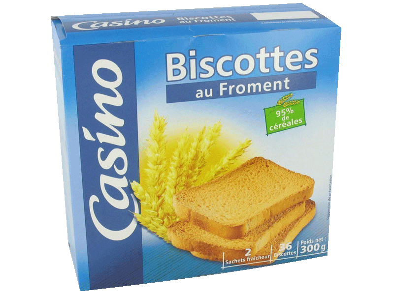 Biscottes au froment 300g