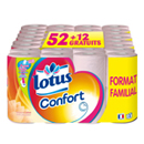 Lotus confort papier toilette rose aquatube x52