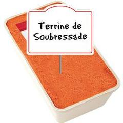 Elpozo, Terrine de soubressade , au rayon traditionnel, a la coupe