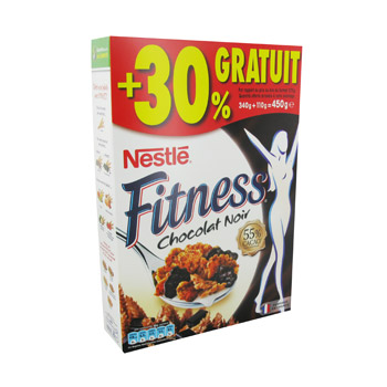 Fitness cereales chocolat noir 340g 450g