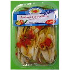 Pecheries setoises, Filets anchois marines a la sevillane, la barquette de 150 gr