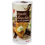 toasts brioches aux cereales auchan 160g