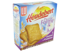 Biscottes aux cereales completes, Forme + - Heudebert