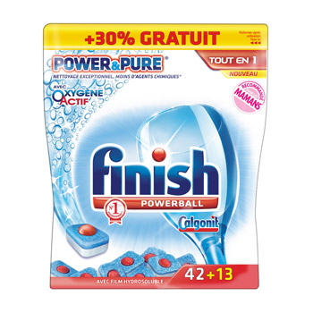 Tablettes Power & Pure lave-vaisselle - Powerball PROMO : -30%