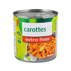 Auchan carottes extra fines 265g