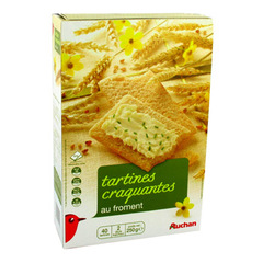 Auchan tartines craquantes au froment 1 x 250g