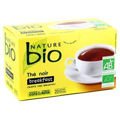 Nature bio the noir 20 sachets 36g