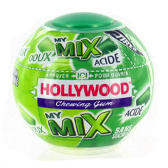 Chewing-gum sans sucre a la pomme My Mix HOLLYWOOD dragees, 87g