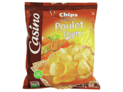 Chips aromatisees Poulet et Thym