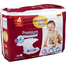 Couches taille 4, 7-18 kg Carrefour Baby Premium Ultra Protect