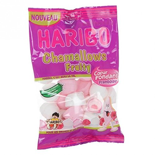 Chamallows fruity framboise HARIBO, sachet de 175g