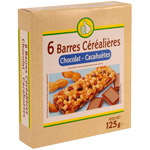 Pouce barres c?r?ali?res chocolat cacahu?tes x6 -125g