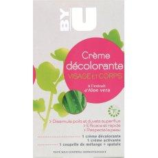 Creme decolorante duvet visage et corps BY U, 2x50ml