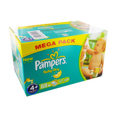 Pampers couches baby dry mega T4 + x88