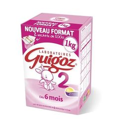 Guigoz 2eme age bag in box 2x500g