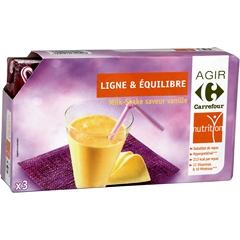 substitut de repas milk shake saveur vanille hyperproteine tous les produits encas. Black Bedroom Furniture Sets. Home Design Ideas