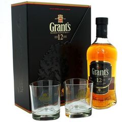 Grant's 12 ans whisky 70cl 40%vol + pack 2 verres