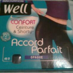 Collant opaque Well Accord parfait noir T2