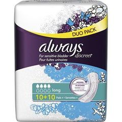 Always discreet serviettes incontinence long x20 duopack