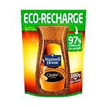Café soluble normal MAXWELL HOUSE, éco-recharge de 180g