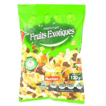 Auchan melange de fruits exotiques doypack 1 x 120g tous - Liste fruits exotiques avec photos ...