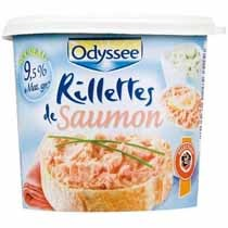Rillettes de saumon, le pot de 150g