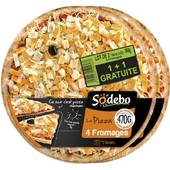 Sodebo pizza 4 fromages 1 + 1 gratuit 940g