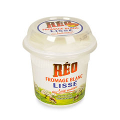 Fromage blanc lisse au lait entier REO, 18%MG, 500g