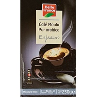 Belle France Café Moulu Expresso Pur Arabica 250 g - Lot de 6