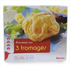 Feuilletes au fromage - 4 pieces Aux 3 fromages.