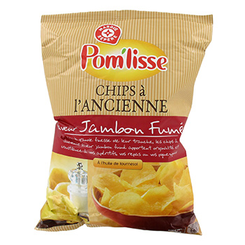 Chips a l'ancienne Pom'Liss Jambon fume 135g