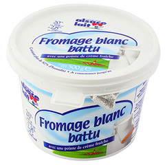 Fromage Blanc battu Alsace Lait 20%mg 500g