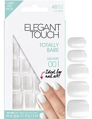 Elegant Touch Totally Bare 001 Faux ongles limage carré