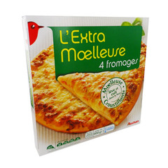 pizza l'extra moelleuse 4 fromages auchan 600g