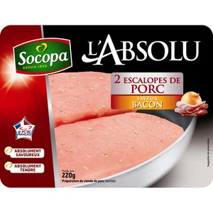 L'Absolu Escalope de porc mariné Bacon