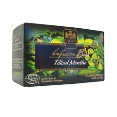 Infusions bio tilleul menthe PAGES, 20 sachets, 30g