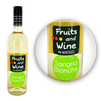 Fruits and Wine Vin blanc sangria blanche 8.5% - 8,00% vol