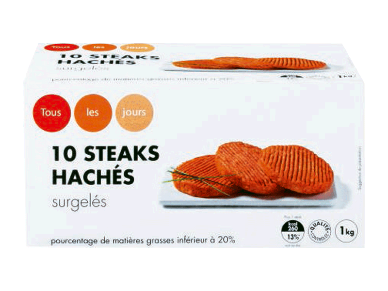 Steaks haches (20 % de MG)