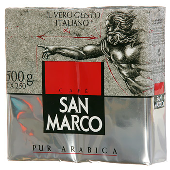 Cafe grains San Marco Pur arabica 2x250g