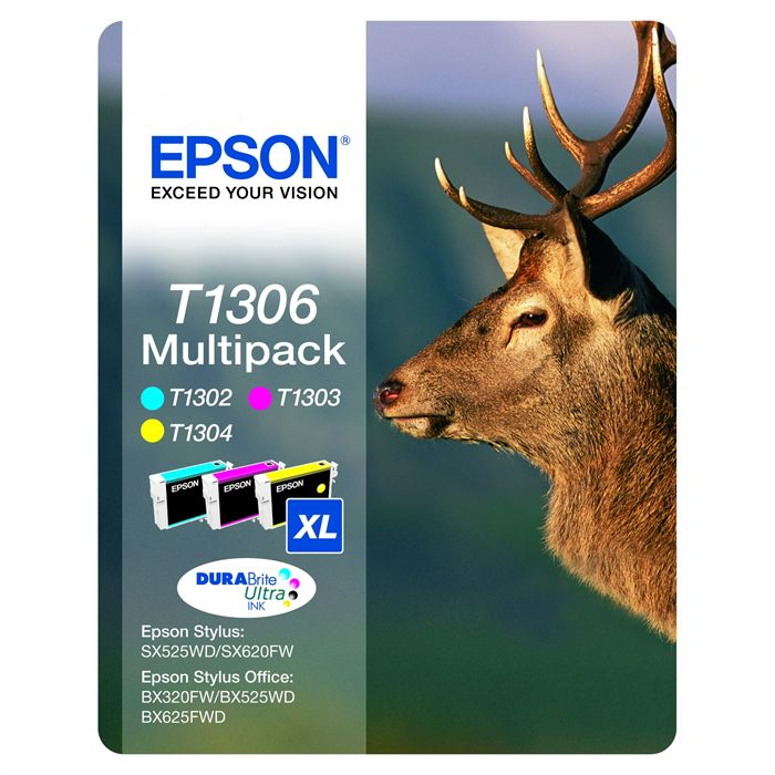 PACK 3 CARTOUCHES EPSON T1306