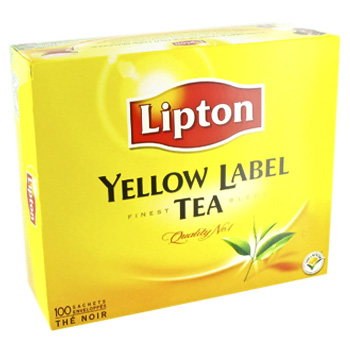 Lipton yellow label sachet x100 -200g