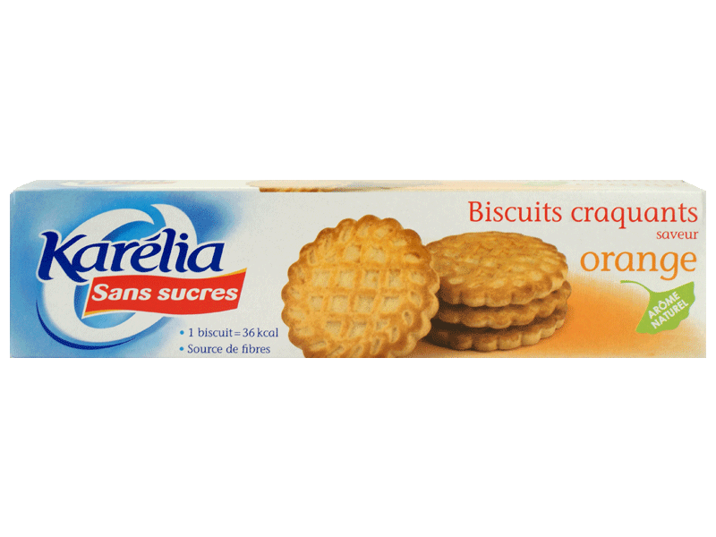 Biscuits sans sucre a l 39 orange karelia 132g tous les - Plats cuisines sans gluten ...