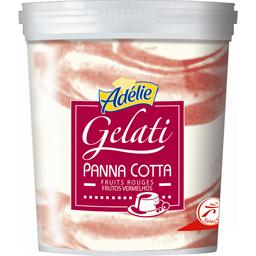Adelie, Glace Panna Cotta fruits rouges, le bac de 530g
