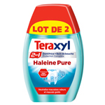 Teraxyl dentifrice 2 en 1 haleine pure 75ml x2