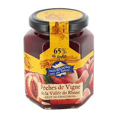 Confiture peches de vignes Nos Regions ont du Talent 315g