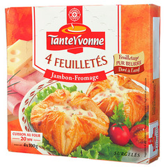 Feuilletes Tante Yvonne Jambon fromage x4