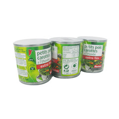 petits pois/carottes extra fins auchan 3x130g