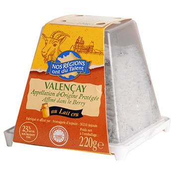 Fromage Valencay AOP 23%mg Nos regions ont du Talent 220g