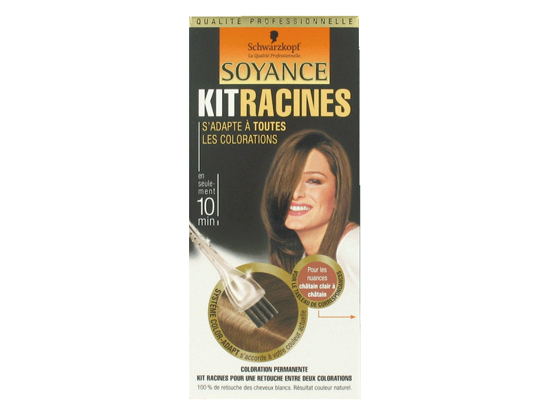 Kit coloration racines SOYANCE, chatain clair